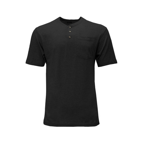 Heavyweight Henley T-Shirt Short Sleeve Cotton Polyester Left Chest Pocket Hemmed Sleeves