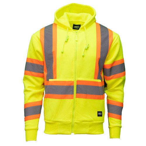 Hi-Visibility Sweatshirt Heavyweight Fleece Pocket ANSI II Class 3 ISEA 107-2015 Compliant Reflective Hood