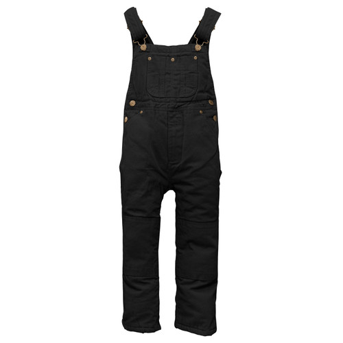 Youth Insulated Duck Bib Overall Cotton Heavyweight Polyester Insulation Heavy Duty Zipper Double Knee Utility Pockets