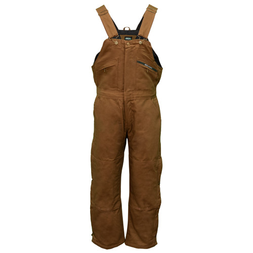 Insulated Duck Bib Overalls Heavy-Duty Duck Fabric Outer Shell Water and Stain Resistant