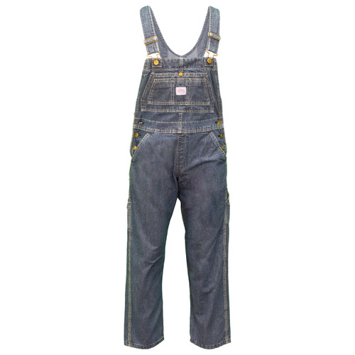 Women's Ring Spun Denim Bib Overalls Cotton Double Chest Pocket Snap Closure Double Utility Pockets