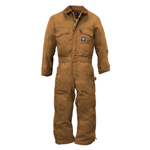 Boys/Youth Insulated Duck Coverall Cotton Heavyweight Bonded Polyester Fiberfil Insulation Double Utility Pockets Taffeta Lining