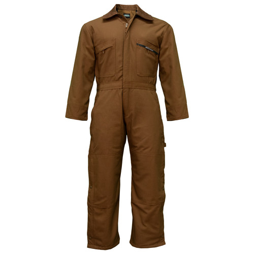 Insulated Duck Coverall Cotton Polyester Mid-Weight Water Stain Resistant Bi-Swing Back Heavy-Duty
