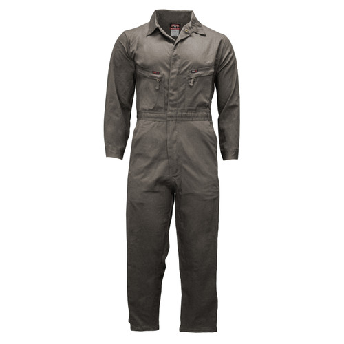 FR Unlined Coveralls - NFPA 2112 Cotton Air Brushed Relaxed Fit Flame Resistant  HRC Level 2 ARC Rating 8 NFPA 2112 Certified