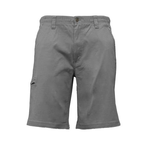 Active Comfort Short Flex Stretch Twill Elastic Waistband Front Pockets Zipper Closure