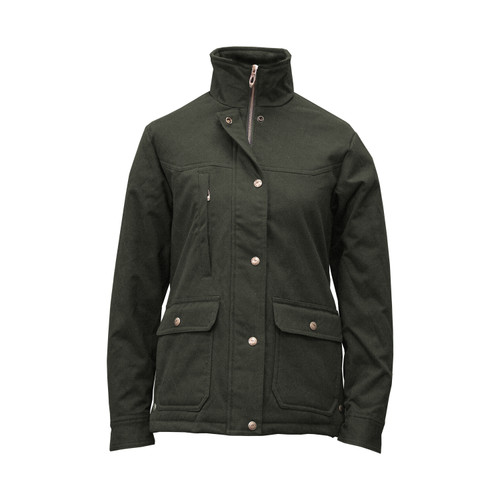 The Alice Paige Coat Brushed Cotton Spandex Shell Polyester Polar Fleece Lining Snap Closure