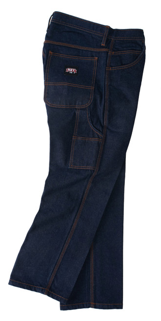 FR Denim Dungarees NFPA 2112 Cotton Garment Washed Relaxed Fit Scoop Front Pockets HRC Level 2 ARC Rating 24 NFPA 2112 Certified