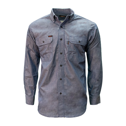 FR Chambray Shirt Cotton High Tenacity Nylon Relaxed Fit HRC Level 1 ARC Rating 6.4