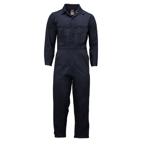 FR Deluxe Coveralls  Unlined Relaxed Fit Cotton High Tenacity Nylon Utility Pocket FR Zipper Tape HRC Level 2 ARC Rating 9.2