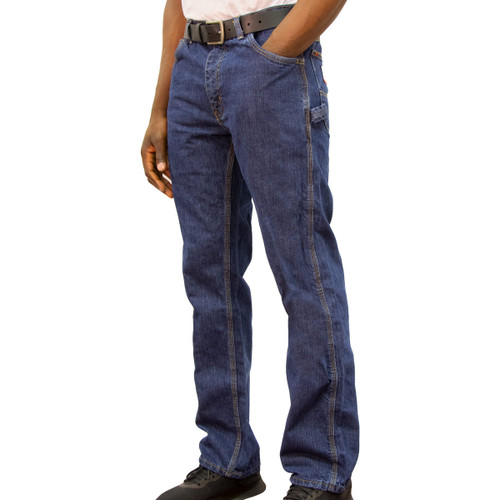 Flame Resistant Denim Dungaree Relaxed Fit HRC Level 2 ARC Rating 19 NFPA 70E Compliant NFPA 2112 Certified