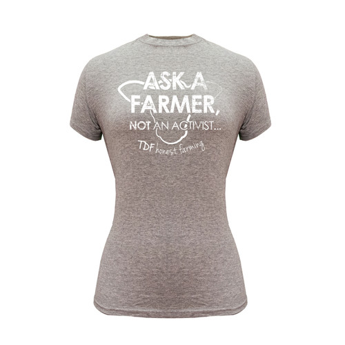 Women's Tee Cotton Polyester Crew Neck Graphic Shirt TDF Honest Farming