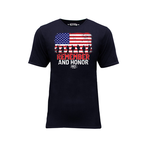 Mens Remember & Honor Graphic Tee Cotton Polyester Crew Neck Taped Seams