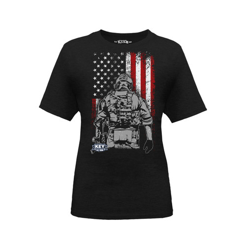 Kids Soldier Graphic Tee Cotton Polyester Crew Neck Taped Seams