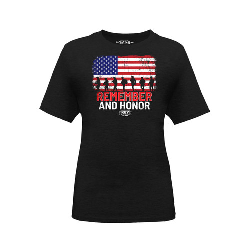 Kids Remember & Honor Graphic Tee Cotton Polyester Crew Neck Taped Seams