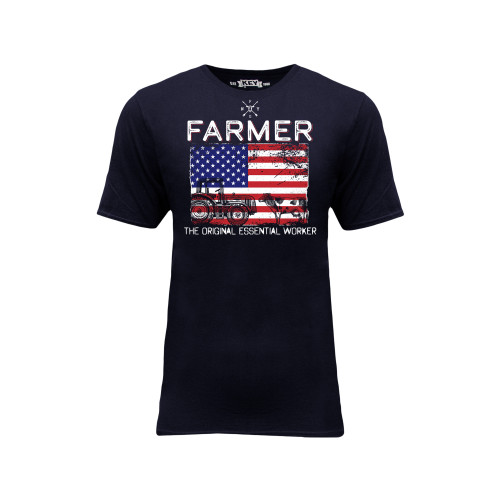 Mens Tee Cotton Polyester Crew Neck Graphic Print New York Farm Girls Essential Farmer