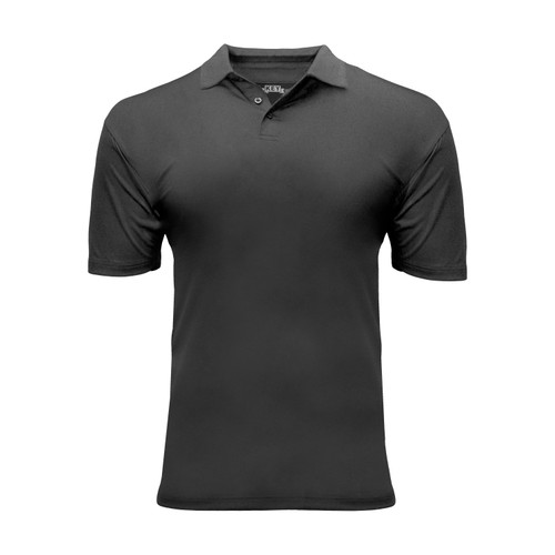 Men's Victory Polo Polyester Spandex Athletic Fit 3-Button Placket Taped Neck Stitched Seams