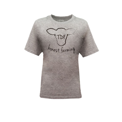 Kid's TDF Honest Farming Graphic Tee Cotton Polyester Short Sleeve Crew Neck
