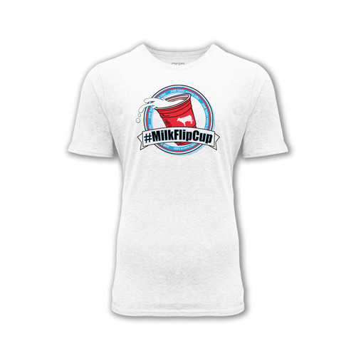mens milk flip cup graphic tee june dairy month crew neck cotton polyester short sleeve