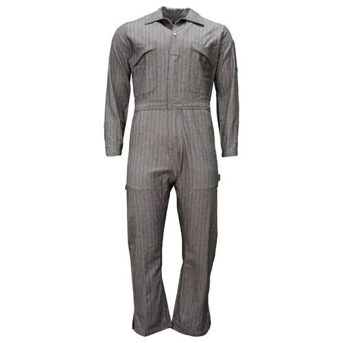 Unlined Long Sleeve Coverall Water Stain Resistant Relaxed Fit Bi-Swing Back Reinforced Pockets Heavy-Duty Zipper