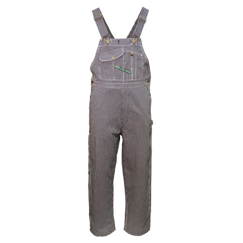 Hickory Stripe Bib Overall Unwashed Rigid Heavyweight Cotton Reinforced Pockets Double Utility Pocket Diamond Back