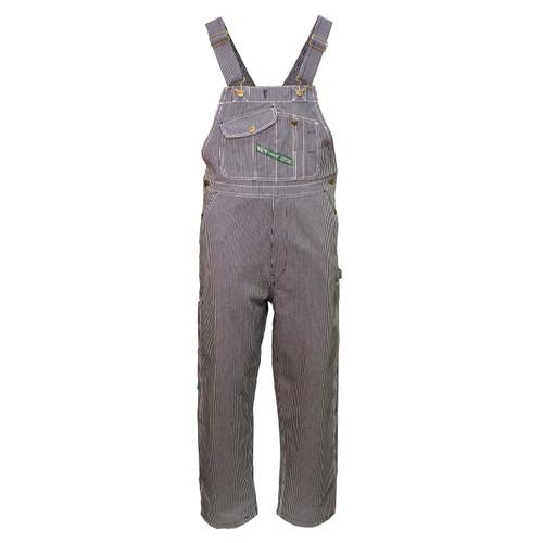 Hickory Stripe Bib Overall Unwashed Rigid Heavyweight Cotton Reinforced Pockets Double Utility Pocket Diamond Back
