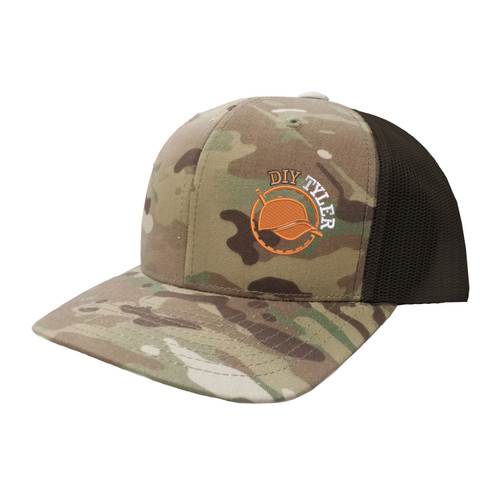 DIY Tyler Logo Hat Six Panel Camouflage Polyester Cotton Mesh Embroidered Adjustable Snapback Trucker Cap