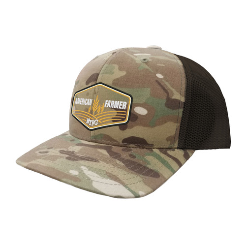 NYFG American Farmer Hat Six Panel Camouflage Polyester Cotton Mesh Embroidered Adjustable Snapback Trucker Cap