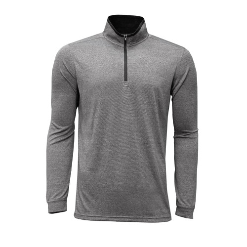 mens quarter zip pullover polyester elastane athletic fit