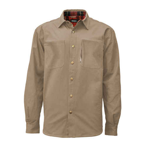 Franklin Shirt Jac Cotton Polyester Snap Front Napoleon Pocket Adjustable Cuffs Taffeta Lined Sleeves