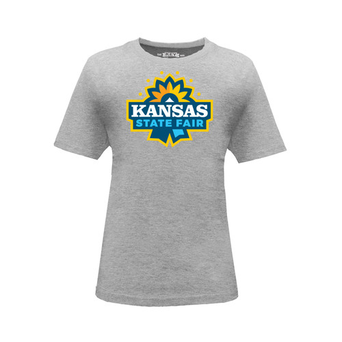 Kid's Kansas State Fair Logo Graphic Tee Cotton Polyester Short Sleeve Crew Neck
