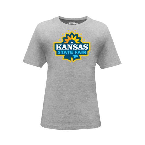 Kid's Kansas State Fair Logo Graphic Tee Cotton Polyester Short Sleeve Crew Neck