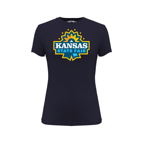 Kansas State Fair Logo Graphic Tee Cotton Polyester Short Sleeve Crew Neck