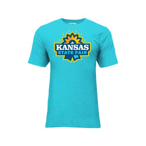 Kansas State Fair Logo Graphic Tee Cotton Polyester Short Sleeve Crew Neck