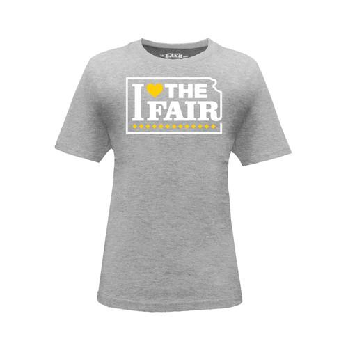 Kid's Kansas State Fair I Love The Fair Graphic Tee Cotton Polyester Short Sleeve Crew Neck