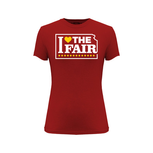 Kansas State Fair I Love The Fair Graphic Tee Cotton Polyester Short Sleeve Crew Neck
