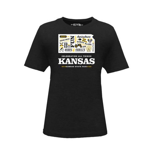Kid's Kansas State Fair Celebrating Kansas Graphic Tee Cotton Polyester Short Sleeve Crew Neck