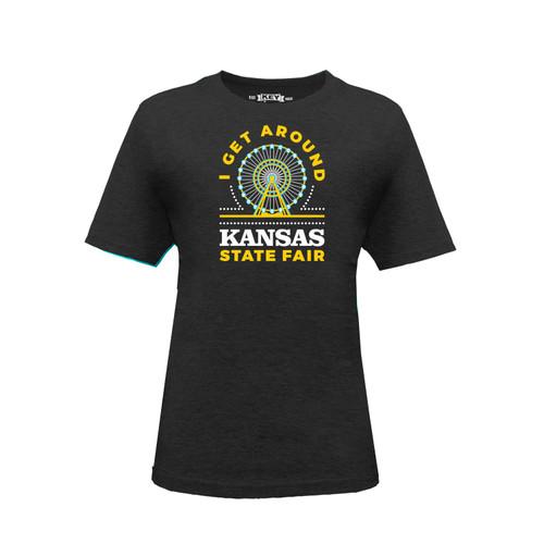 Kid's Kansas State Fair Get Around Graphic Tee Cotton Polyester Short Sleeve Crew Neck