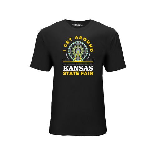 Kansas State Fair Get Around Graphic Tee Cotton Polyester Short Sleeve Crew Neck