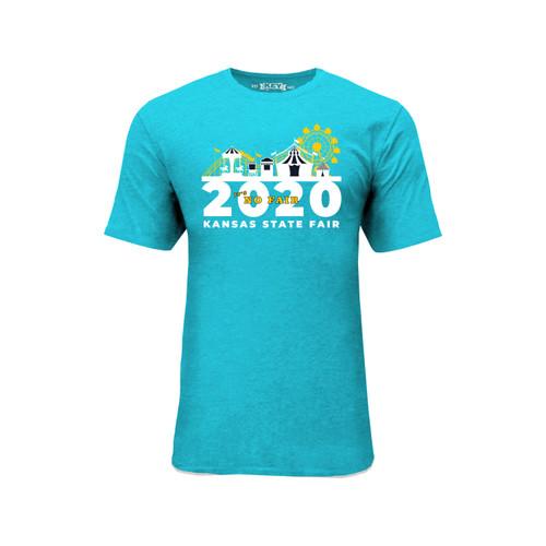 Kansas State Fair No Fair 2020 Graphic Tee Cotton Polyester Short Sleeve Crew Neck