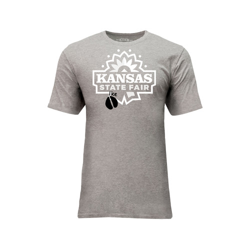Kansas State Fair Limited Edition Graphic Tee Cotton Polyester Short Sleeve Crew Neck
