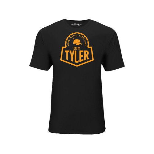 DIY Tyler Graphic Tee Cotton Polyester Short Sleeve Crew Neck