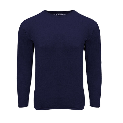 Mens Liberty Long Sleeve Tee Cotton Polyester Crew Neck Taped seams
