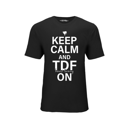 Keep Calm and TDF On Graphic Tee Cotton Polyester Short Sleeve Crew Neck