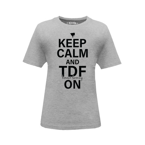 Kid's Keep Calm and TDF On Graphic Tee Cotton Polyester Short Sleeve Crew Neck