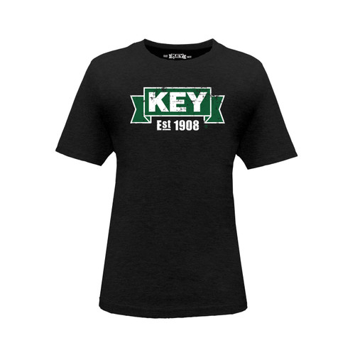 Kid's KEY Logo Tee Cotton Polyester Crew Neck Taped Seams