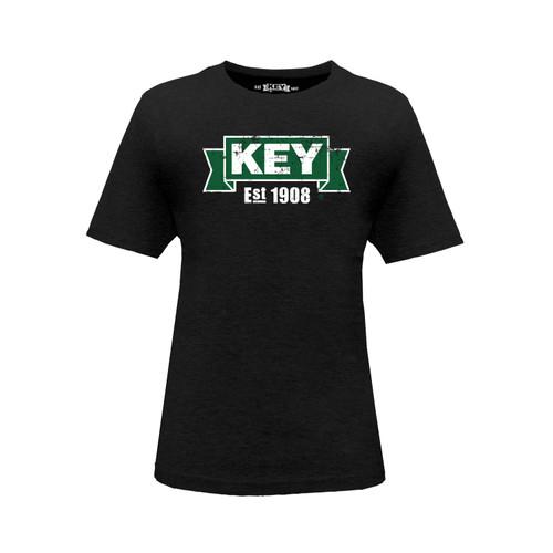 Kid's KEY Logo Tee Cotton Polyester Crew Neck Taped Seams