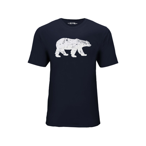 Men's Polar King Logo Tee Cotton Polyester Crew Neck Taped seams