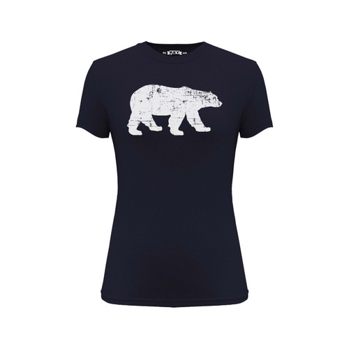 Women's Polar King Logo Tee Cotton Polyester Crew Neck Taped seams
