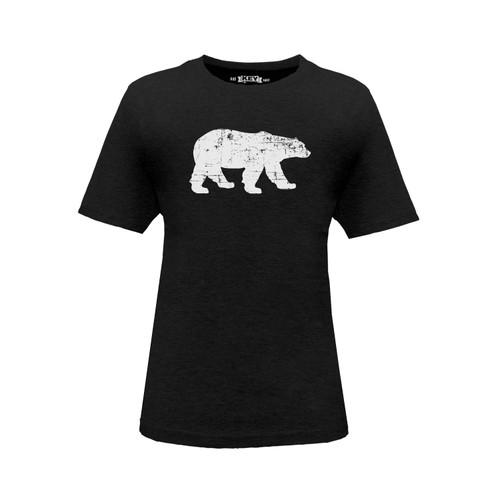Kid's Polar King Logo Tee Cotton Polyester Crew Neck Taped Seams
