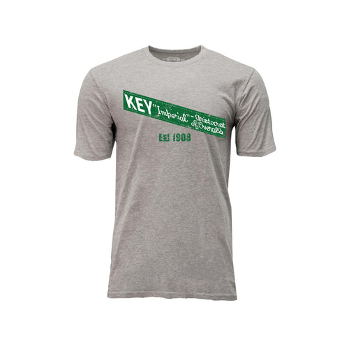 Men's KEY Imperial Tee Cotton Polyester Crew Neck Taped seams